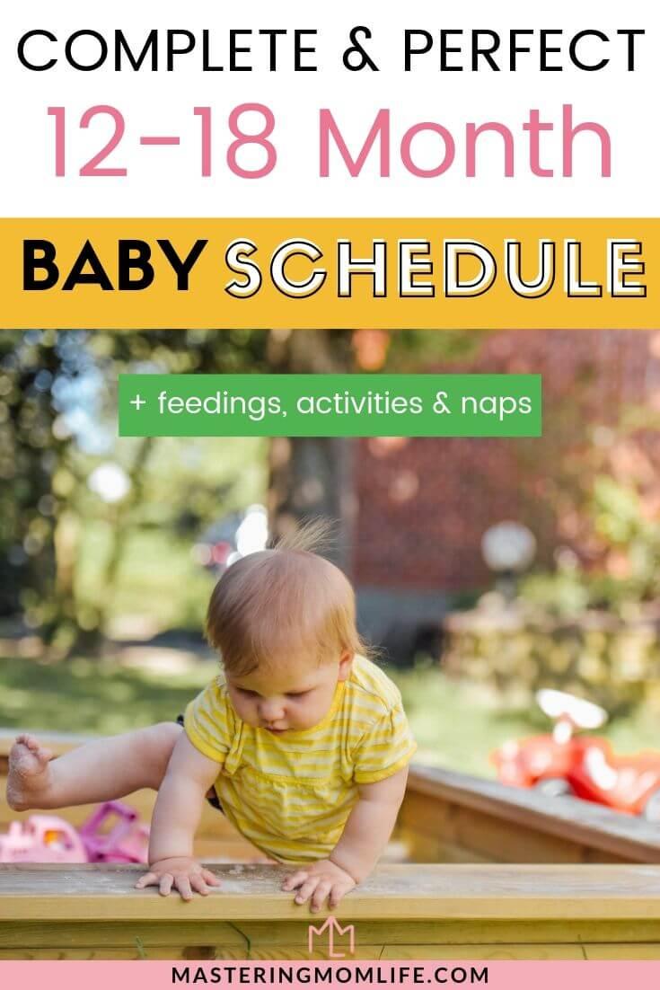 Sample 12-18 Month Old Baby Schedule