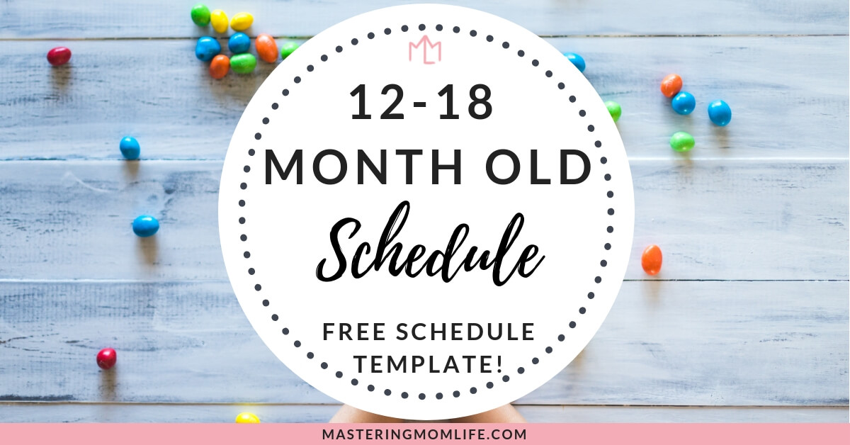 12-18 Month Old Baby Schedule | Daily Baby Schedule Template