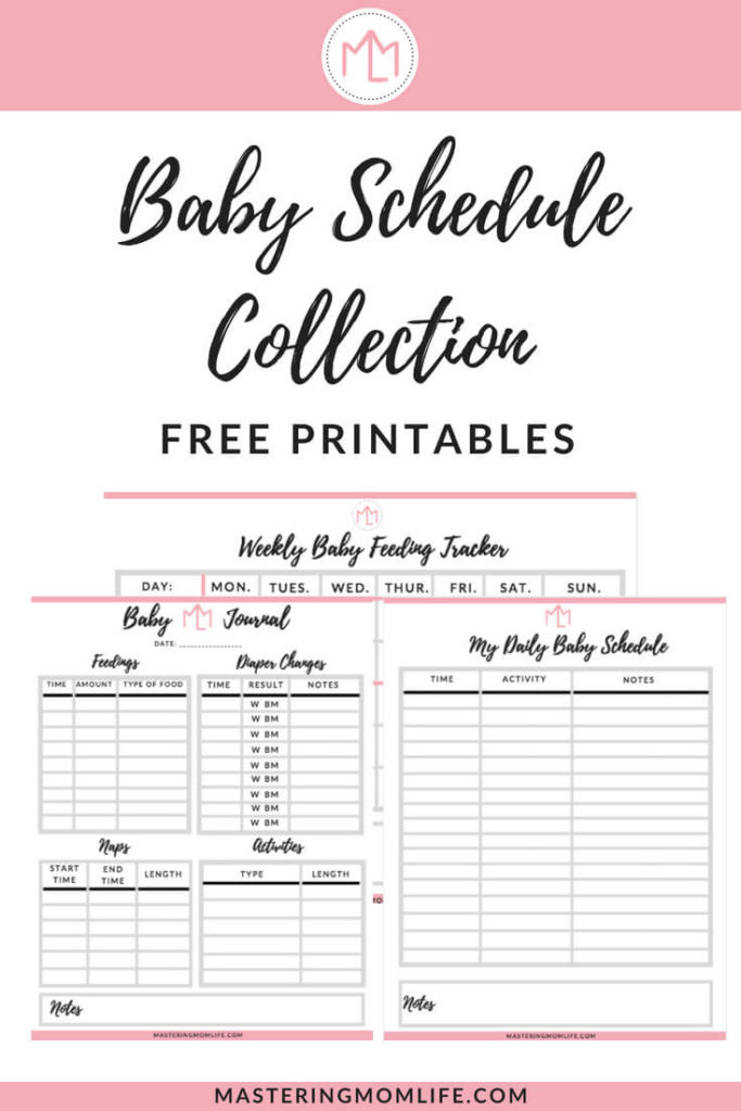 Genius image in printable baby schedule
