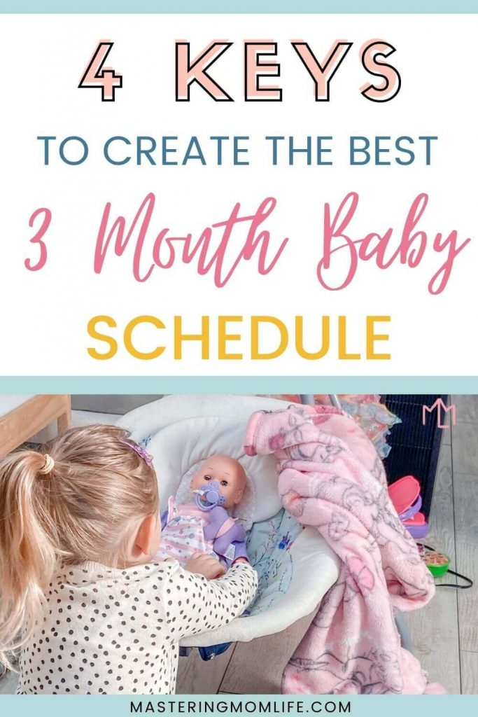 4 keys to create the best 3 month baby schedule