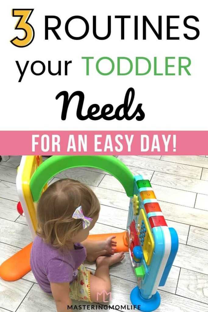 3 Routines your Toddler Needs: Image of toddler playing