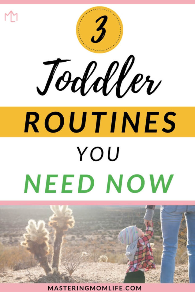 Find out the 3 toddler routines that can improve your child's everyday life! These routines will help your toddler's daily schedule and offer your child stability, predictability and comfort. Read these baby and toddler tips now! Get the free toddler routine printable now! #parenting #parenthood #toddler #parenting101