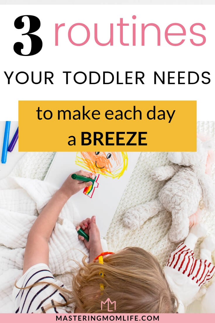 3 toddler routines you need in your day| Image of toddler playing