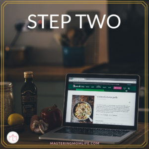 5 Steps to Easy Meal Planning- Step 2