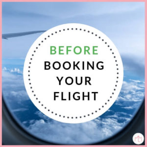 Before booking your flight with your baby
