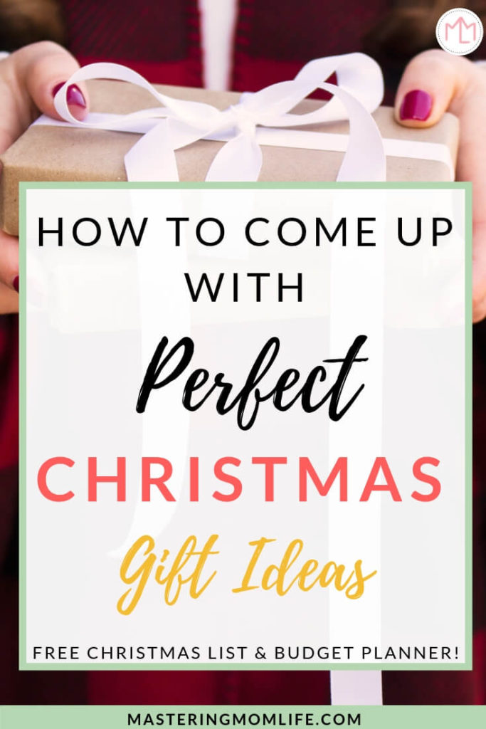 How to Come Up With Perfect Christmas Gift Ideas | Christmas Planner | Free Planner | Christmas List | Family | Mom Life Hacks | Presents | #christmasgifts #christmasplanner