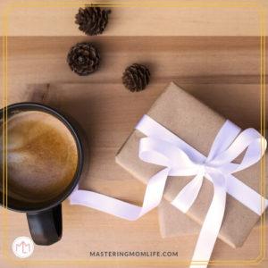 Christmas Gift & Coffee & Pinecones