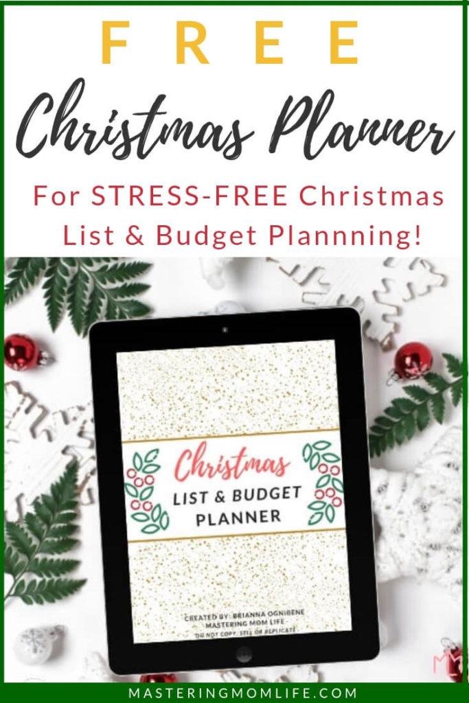 free christmas list budget planner stress free christmas planning