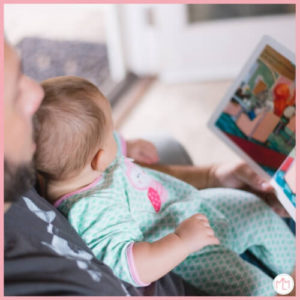 Dad and baby reading | Bonding