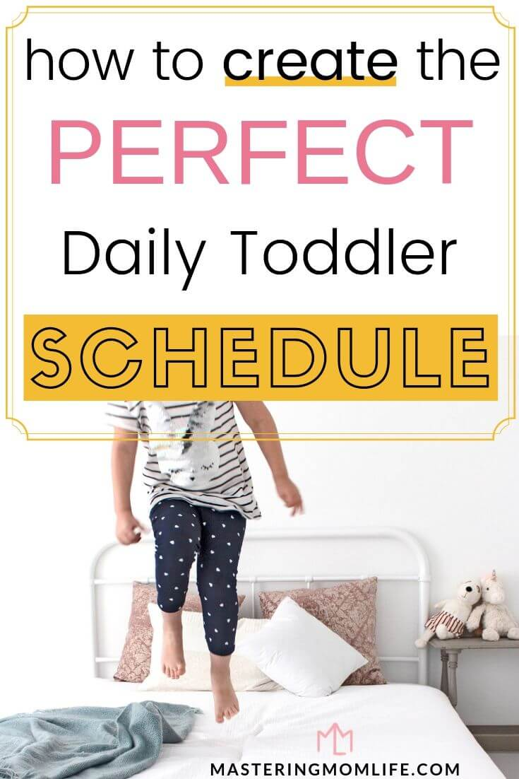 how to create the perfect daily toddler schedule | image of toddler jumping
