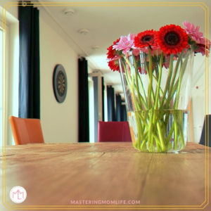 Flowers on Table | Getting Your House Ready for Guests