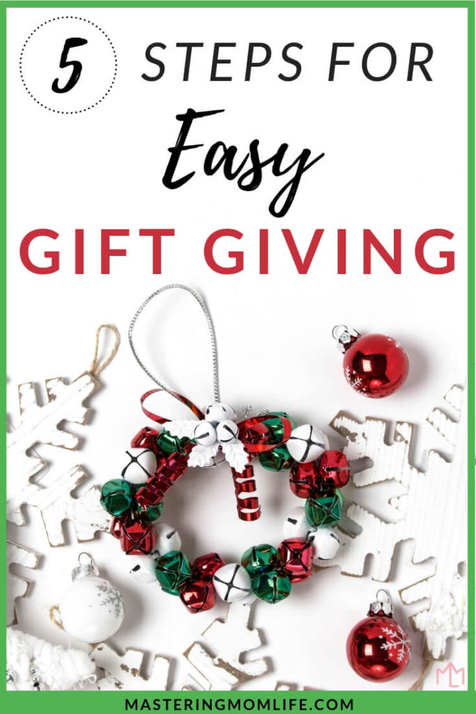 Guide to Easy Gift Giving | 5 Steps to Jump Start Holiday Shopping | gift giving guide | gift giving | gift giving guide Christmas |#giftgiving #christmasgifts