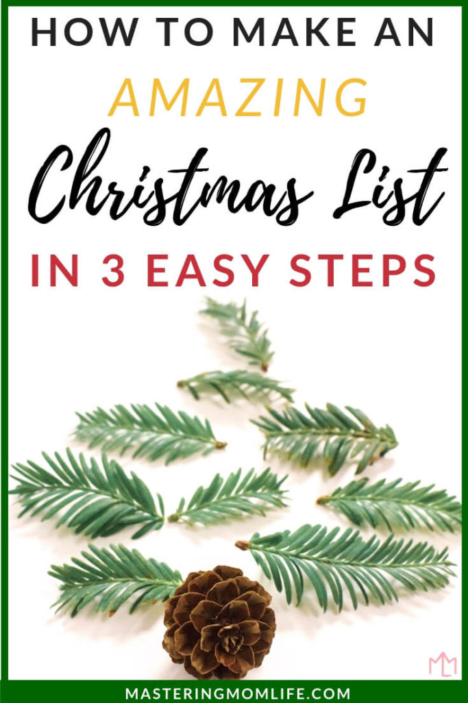 How to Make an Amazing Christmas List | Christmas list ideas | Christmas List Printable | Easy Christmas List | #christmaslist #christmas #christmasgifts