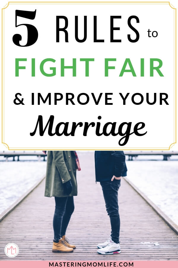 5 Rules to fight fair in marriage | Image of husband and wife talking