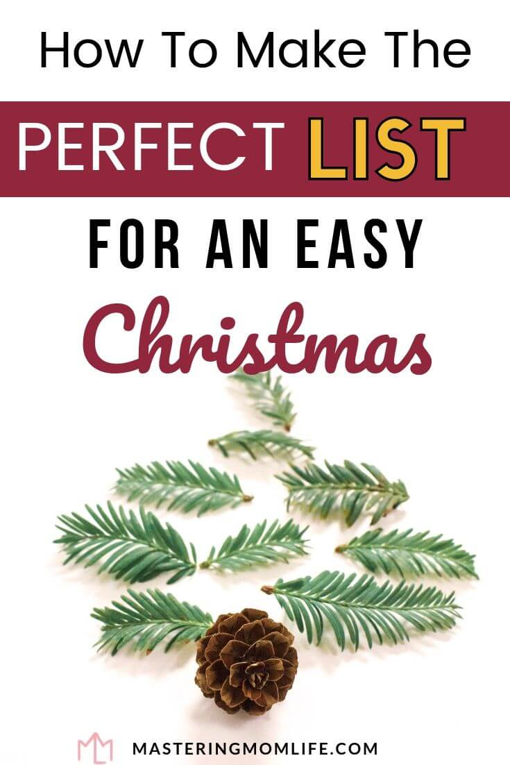 How to make the perfect list for an easy Christmas : Image of leaves and pinecones