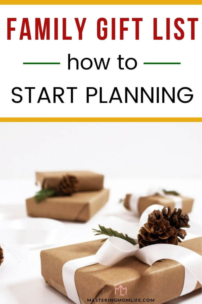 How to Easily Start Planning your Family's Christmas List