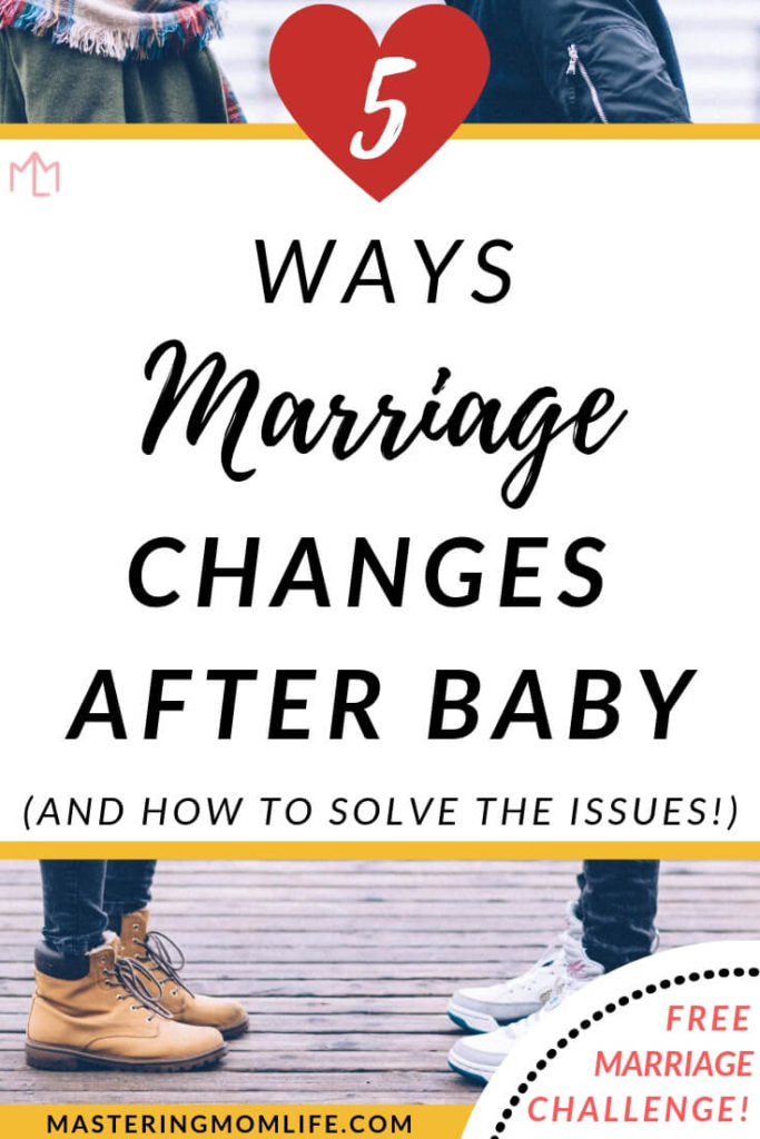 Find out the 5 most common marriage issues after baby and how to solve them! Your marriage after kids can be great! These marriage tips and marriage advice can truly make your marriage string! #marriageadvice #marriagetips