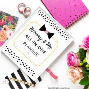 Mommy & Me All In One Planner   Mommy Planner  Free Planner
