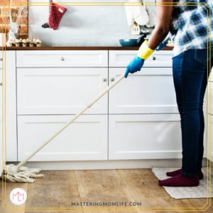 Mopping | Prepping Your House for Guests