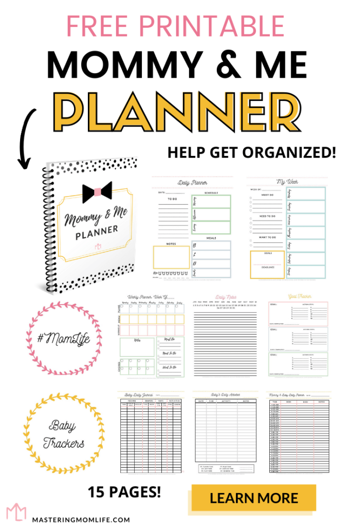 Free Printable Mom Planner and Baby Tracker Combination