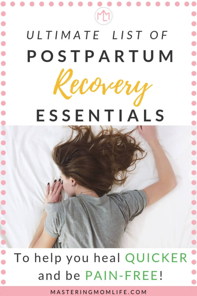 Ultimate List of Postpartum Recovery Essentials | Mom Advice | #postpartumrecovery #postpartum