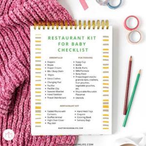 Restaurant Kit for Baby Checklist