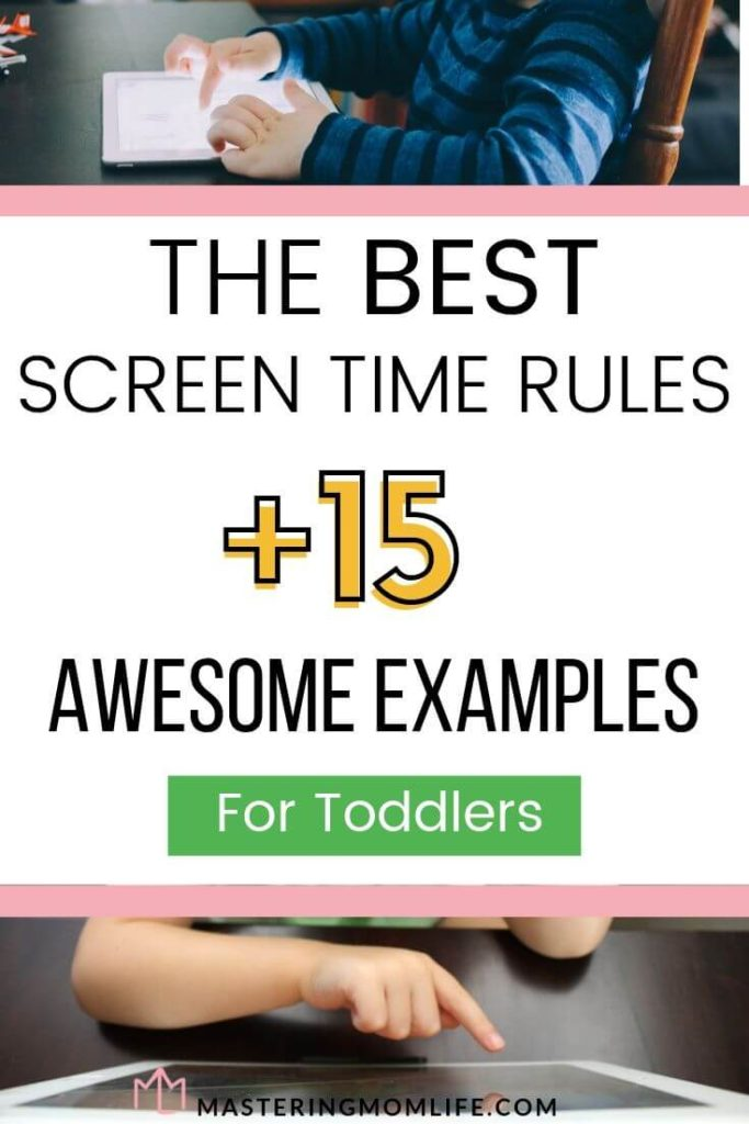 The best screen time rules plus 15 awesome examples:image of kids on tablet