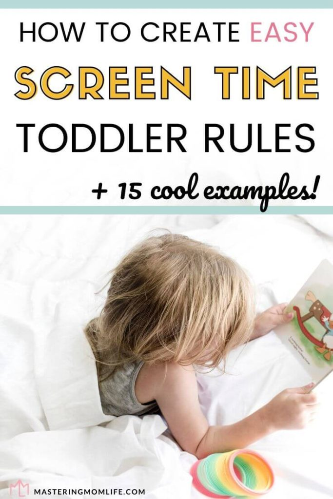 How to Create Easy screen time toddler rules