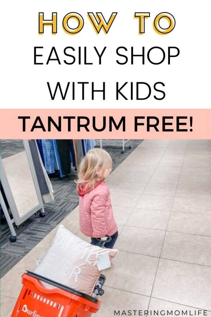 How to easily shop with kids| tantrum free