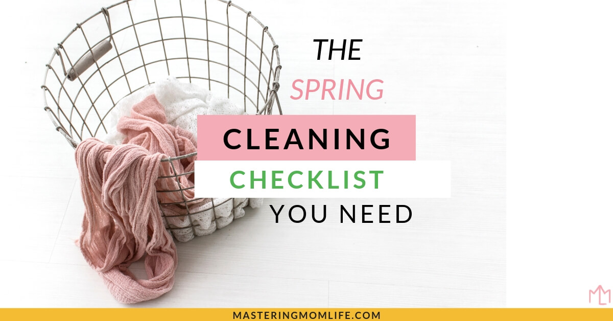 Easy Spring Cleaning Checklist Printable