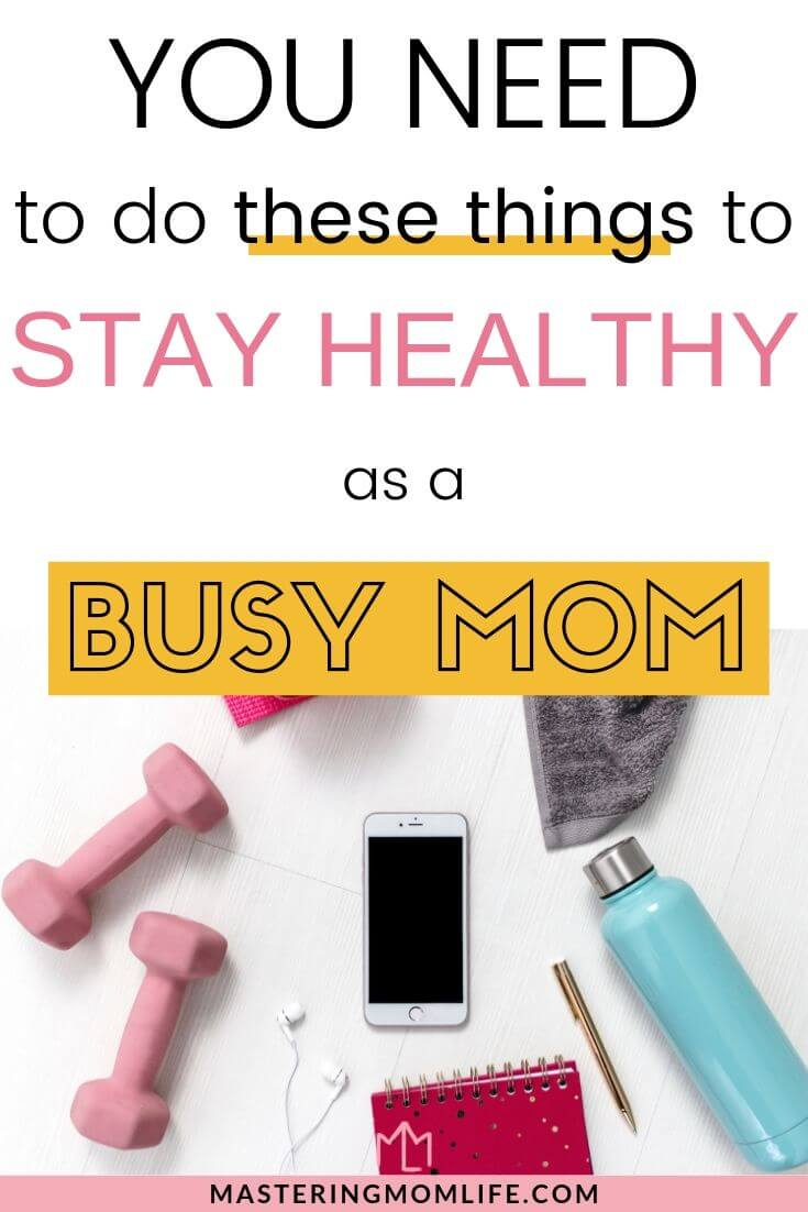 How to stay healthy as a busy mom | Image of work our gear
