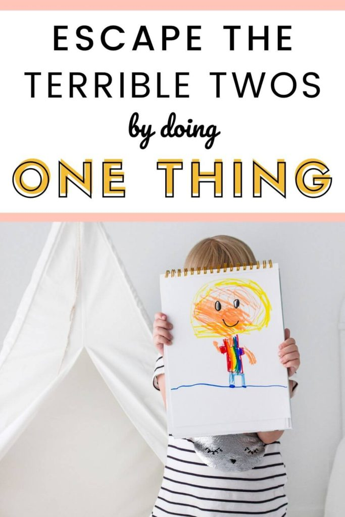 How to escape the terrible twos by doing one thing