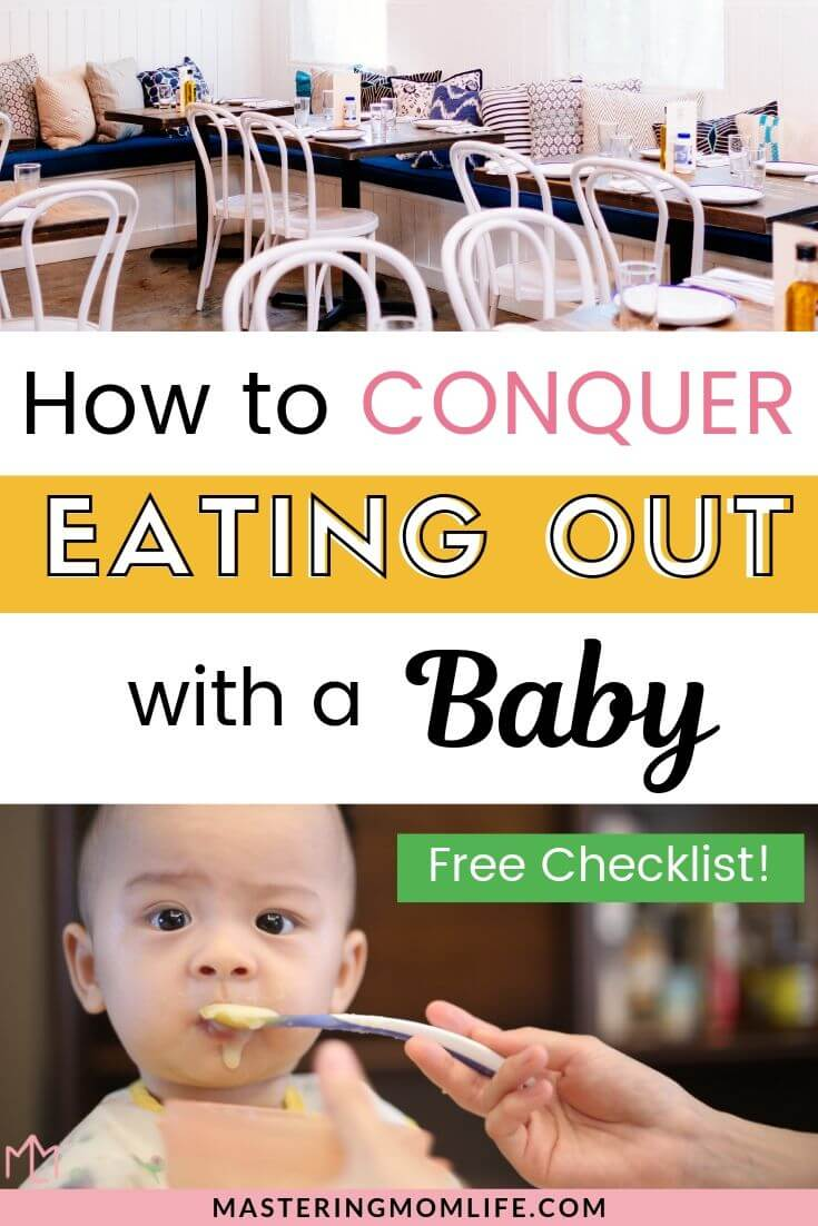 how to conquer eating out with your baby