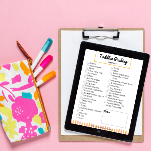 Free toddler travel checklists