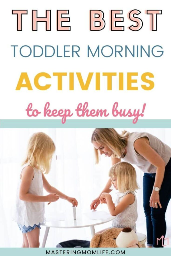 The best toddler morning routine to keep them busy