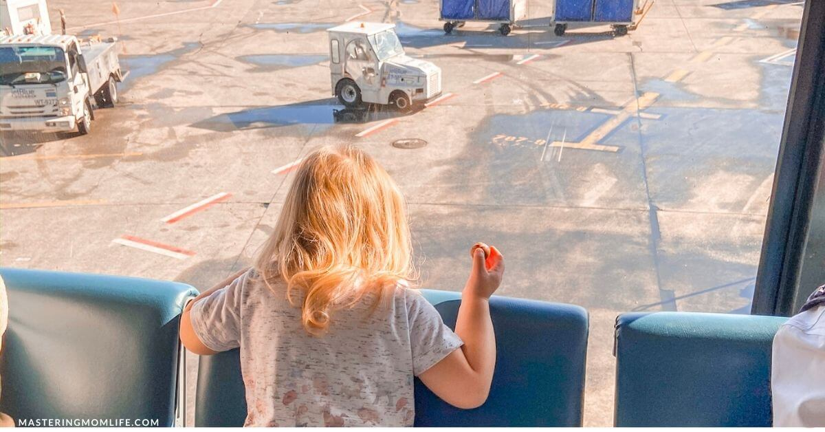 Travel alone with a toddler