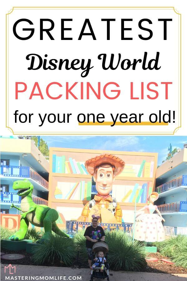 Greatest Disney World Packing List for your One Year Old