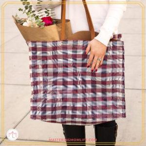 Women with Christmas Gift bag